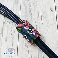 Efimoni- Dreadperle 1Stk., Dreadschmuck, 7mm Loch, Polymer Clay, Dreadtubes, Bartperle, Haarperle, Großlochperle, Dreadlocks Manschette, Dread Bead, handgefertigt