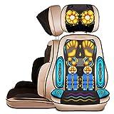 AMYMGLL Massage-Stuhl mit Wärme-Massage-Matte Mechanische Hand-Linie Control abnehmbar (Hals / Taille / Schulter-Massage-Pad / Home Multifunktions-Massage-Kissen) Gold Gold