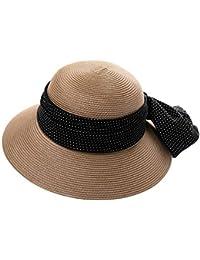 Cappello - Cappello Estivo da Donna Cappello Estivo da Sole Protezione  Solare Visiera Pieghevole Anti- c78648e71b5b