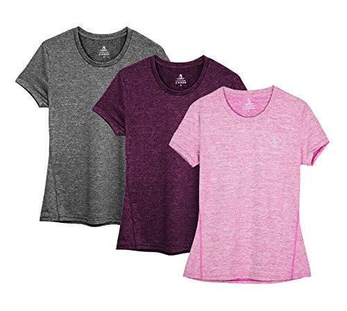 icyzone Sport T-Shirt Damen Kurz...