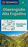 Oberengadin, Alta Engadina: Wanderkarte. GPS-genau. 1:40000: Wandelkaart 1:40 000 (KOMPASS-Wanderkarten, Band 99) -