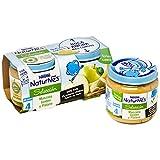 NESTLÉ SELECCIÓN tarrito de puré de fruta, variedad Manzana Golden y Plátano, para bebés a partir de 4 meses - Paquete de 5 x 2 tarritos de 200 g