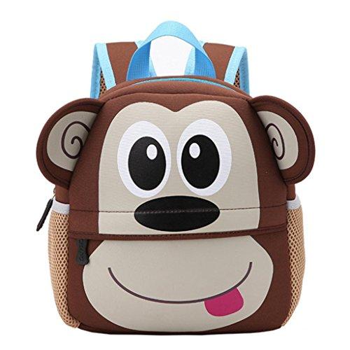 Imagen de smartlady bolsa escuela bolso escolar dibujos animados infantil viaje  para guardería primaria niño niña mono