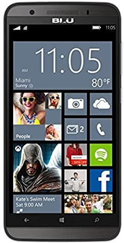 BLU Win HD LTE Smartphone (12,70 cm (5,0 Zoll) IPS, 8 GB Speicher, 8 MP Kamera, Windows 8.1) grau