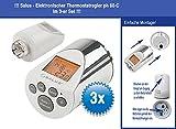 3 Stück Elektronischer Heizkörperthermostat Thermostat Thermostatventil Salus PH 60 in Chrom