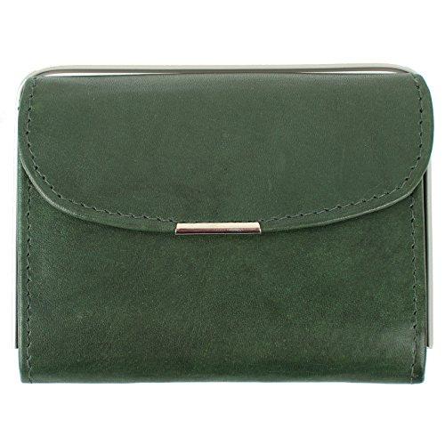 Signore borsa piccolo borsa compatta per Borsa di cuoio in vari colori Nero rosso verde