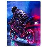 Uofr Plus Ispessimento in VellutoCoperta Comfort Comfort Calda Morbida MorbidaFoderaper Divano Cool Giacca Motocicletta Dark Night Purple Love, 125x200cm50x80inch