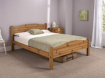 snuggle beds elwood antique 4 6 double bed frame honey antique pine amazoncouk kitchen home