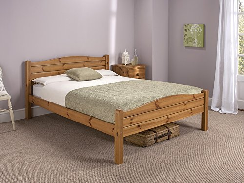 Snuggle Beds Elwood Antique 4FT Small Double Bed Frame Honey Antique Pine