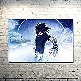 Zcbm 1 Panel Bild Auf Leinwand Wandkunst Uzumaki Naruto Uchiha Sasuke Itachi Malerei Wandmalereien Leinwandbilder Poster Leinwandbild Schlafzimmer Mit Holzrahmen Fertig Zum Aufhängen,A,50x75cm