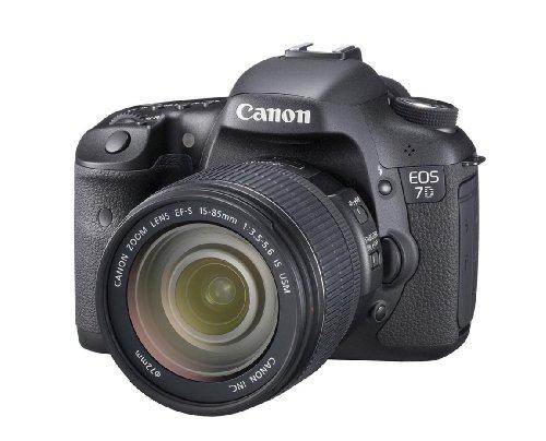 Canon EOS 7D SLR-Digitalkamera (18 Megapixel, 7,6 cm (3 Zoll) LCD-Display, Live-View, Full-HD Movie) Kit inkl. EF-S 15-85mm 1:3,5-5,6 IS USM, Objektivdeckel E-72U schwarz - Kamera-ladegerät Canon Eos