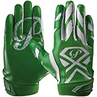 Prostyle Gator Football Gloves American Football Receptor Guantes I 6 Colores, Color Verde, tamaño XX-Large