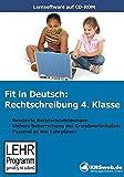 Fit in Deutsch: Rechtschreibung. 4. Klasse. CD-ROM für Windows 95/98/NT/Me/2000/XP: Der sichere Weg zur Beherrschung des Grundwortschatzes