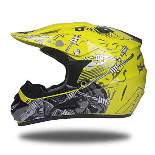 OLEEKA Motorradhelm Flip up Herren Moto Helm Off Road Motocross Helme DOT -