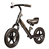 #1: Baybee Trike Best Balance Bike for Kids and Toddlers | Boys and Girls Self Balancing Bicycle with No Pedals is Perfect for Training Your 18 Month Old Child | Classic Run Bikes for Balance Training - ( Black )