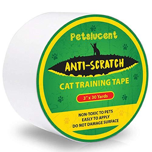 Petslucent Cat Scratch Deterrent Klebeband für Pfoten, Cat Furniture Protector-Übungsband gegen Kratzer, doppelseitige Schutzvorrichtungen für Teppich, Sofa, Couch, Tür (Grün- 7.5cm x 27M) (übungsband Grün)