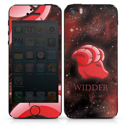 Apple iPhone 5s Case Skin Sticker aus Vinyl-Folie Aufkleber Sternzeichen Widder Astrologie DesignSkins® glänzend