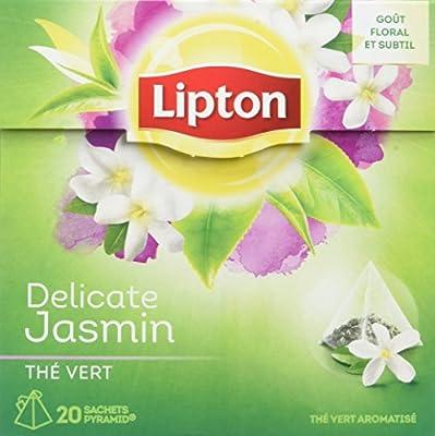 Lipton Thé Vert Jasmin 20 Sachets 34g - Lot de 3