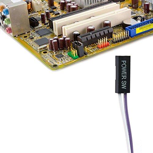 2Pcs Energie Button Schalter Kabel fuer PC Schalter Reset Computer 50CM Lange - 2