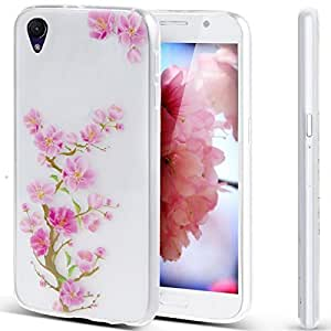 Vandot 1 X Huawei P8 Doux TPU Silicone Coque Etui Cover Case Coquille Flexible Matte Shell Ultra-thin Ultra-Light Couvrir Skin Housse Couverture Effacer Transparent Angel Girl Rabbit Plum Blossom + 1 X Films Protection