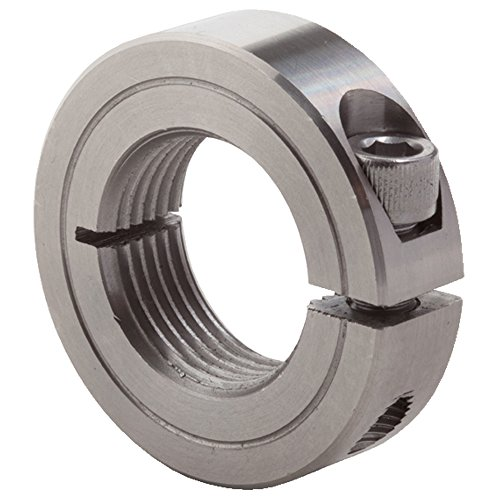1-1//8 OD Climax Metals 2C-050X10 Steel Two-Piece Clamping Collar with 8-32 x 1//2 Set Screw Pack of 10 1//2 Bore Size Black Oxide Plating