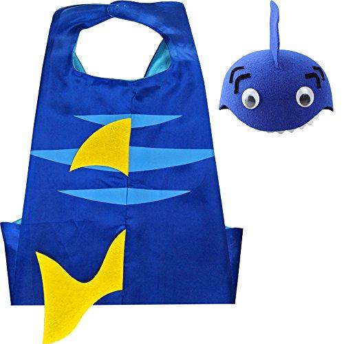 Haifisch Kindes Umhang & Hut (Abc Party Kostüme Für Mädchen)