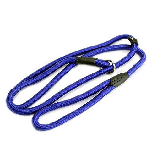 Vi.yo Dog Training Blei Nylon verstellbare Loop Slip Leine Seil Blei und Kragen 1.2M (Blau) (Slip-kragen)