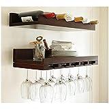 Wine Regale Einfassungen Einhänge Wand Holz Hölzern Jahrgang Kunst Wein Rack Weinkeller Standing Weinschrank , Single Place Cup Frame(Red Wine)