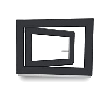 Fenster anthrazit  Kellerfenster - Kunststoff - Fenster - anthrazit / weiß - BxH: 120 ...