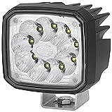 HELLA 1GA 995 506-031 Ultra Beam LED, LED Arbeitsschweinwerfer, weitreichende Ausleuchtung, 9 LEDs, 2.000 Lumen, stehender/ hängender Anbau, mattschwarz beschichtetes Aluminiumgehäuse, 12V/24V