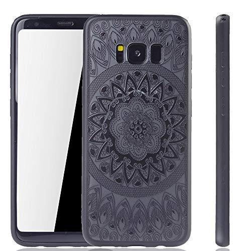König Design Mandala Hülle geeignet für Samsung Galaxy S8 | Silikon Case Back-Cover Motiv Kreis