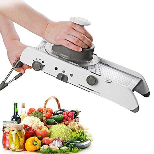 Supreme Adjustable Stainless Steel Mandoline Slicer,Manual Kitchen Cutter Shredder Julienne for Grinding, Cutting,Slicing Fruit Food Vegetables