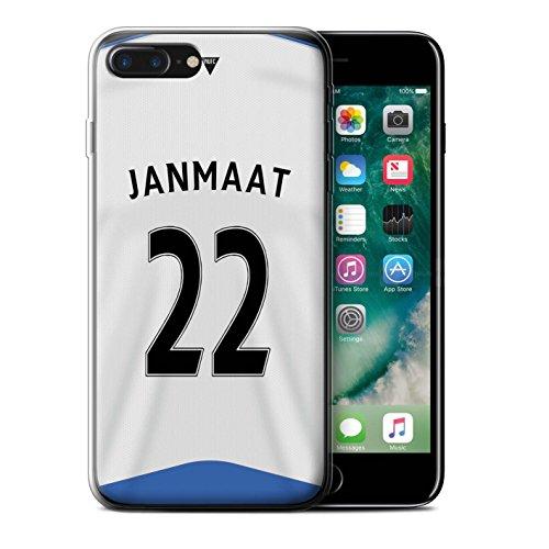Offiziell Newcastle United FC Hülle / Gel TPU Case für Apple iPhone 7 Plus / Obertan Muster / NUFC Trikot Home 15/16 Kollektion Janmaat