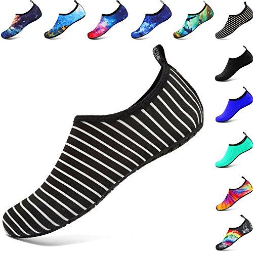 welltree Herren Damen Wasser Schuhe Quick Dry Sport Aqua Schuhe Unisex Atmungsaktiv Schwimmschuhe,für Tanz, Schwimmen, Laufen, Yoga, See, Strand, Garten, Park, Fahren, Bootfahren