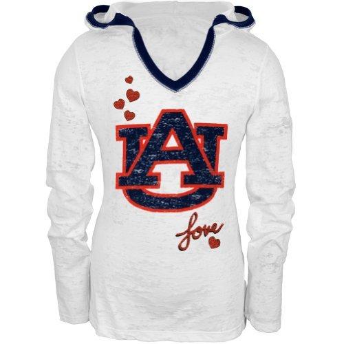 Auburn Tigers Mädchen T-Shirt Gr. 48, Weiß - Weiß (Tigers Auburn Mädchen)