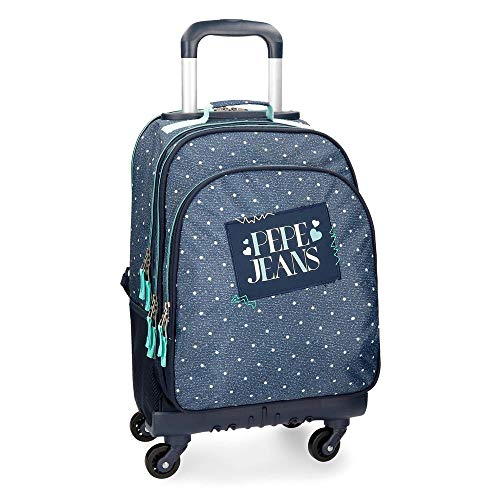 Pepe Jeans Olaia Blue Rolling Backpack 4W