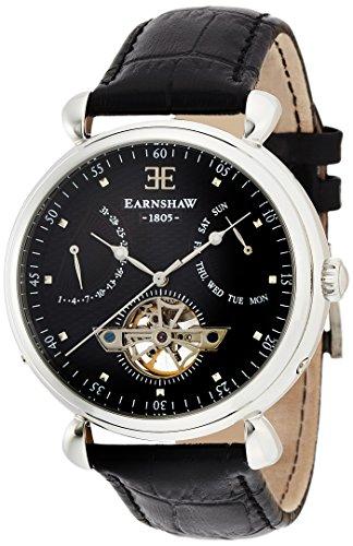 Thomas Earnshaw - ES-8046-01 - Montre Homme - Automatique - Analogique - Bracelet Cuir noir