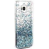 JEPER Samsung Galaxy S8 hülle, Kreativ Design 3D Transparent TPU Case Dynamisch Liquid Fließen Flüssig Schwimmend Sequins Cover Handyhülle Glitter Glitzer Sparkle Hart Hülle für Galaxy S8 (S8, Blue)