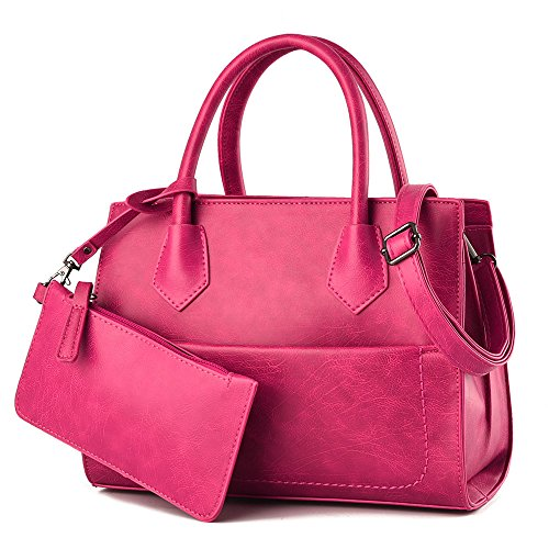 FavoMode, Borsa a mano donna blu Navy Handbag taglia unica Rose Handbag