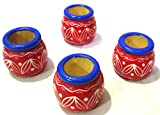 Crafts India Handcrafted Woodendoll Attractive Stacking Pots - Show Piece 4 pcs