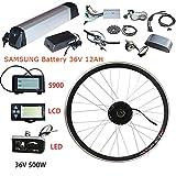 Wenhu Kit de Conversion de vélo électrique 36 V 500 W Batterie 36 V 12AH...