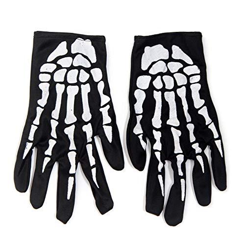 GangKun Halloween Lieferungen, Ghost Festival Requisiten Dekorationen, Kostümparty, Horror boshaft, Simulation Handschuhe Skelett, Handschuhe-3