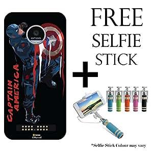Hamee Marvel Civil War Captain America Iron Man Licensed Hard Back Case Cover For Motorola Moto Z Play / Moto Z Play (Design and Combo 57)