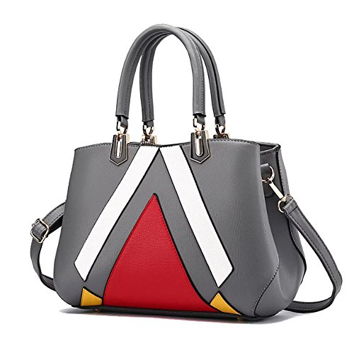 fanova-women-girls-fashion-geometric-pattern-patchwork-cross-body-bag-contrast-color-large-capacity-