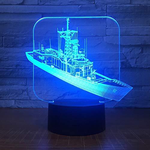 Die 3D LED Nachtlicht Cruise mit 7 Farben Licht für Home Decoration Lampe Erstaunliche Visualisierung Optische Täuschung Super han-9916 -