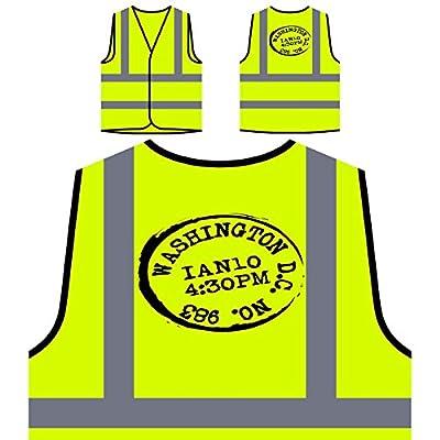 Neue Washington D.C. Post Personalisierte High Visibility Gelbe Sicherheitsjacke Weste m228v