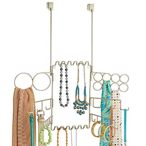 mDesign - Organizador colgante de bijouterie y accesorios, para colocar sobre perfil...
