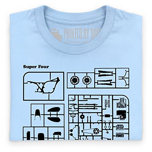 Super Four T-Shirt, Herren Himmelblau