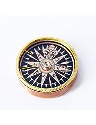 CC Regalos de gama alta de cobre retro de la cubierta de brújula aguja hermosa y delicada instrucciones precisas