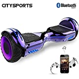 CITYSPORTS Hoverboard 6.5 Inch, Self Balancing Scooter with LED Wheel and Built-in Bluetooth